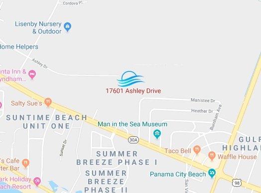Map to Beachside Fellowship Miracle Center Church